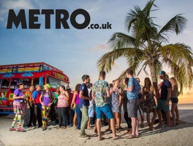 Explore Aruba on the islands Kukoo Kunuku party bus