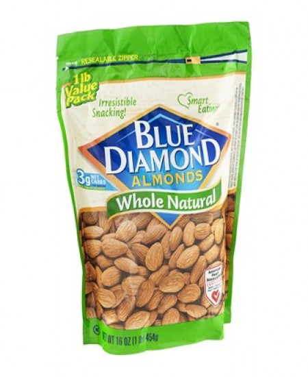 Blue Diamond Almonds Natural, whole
