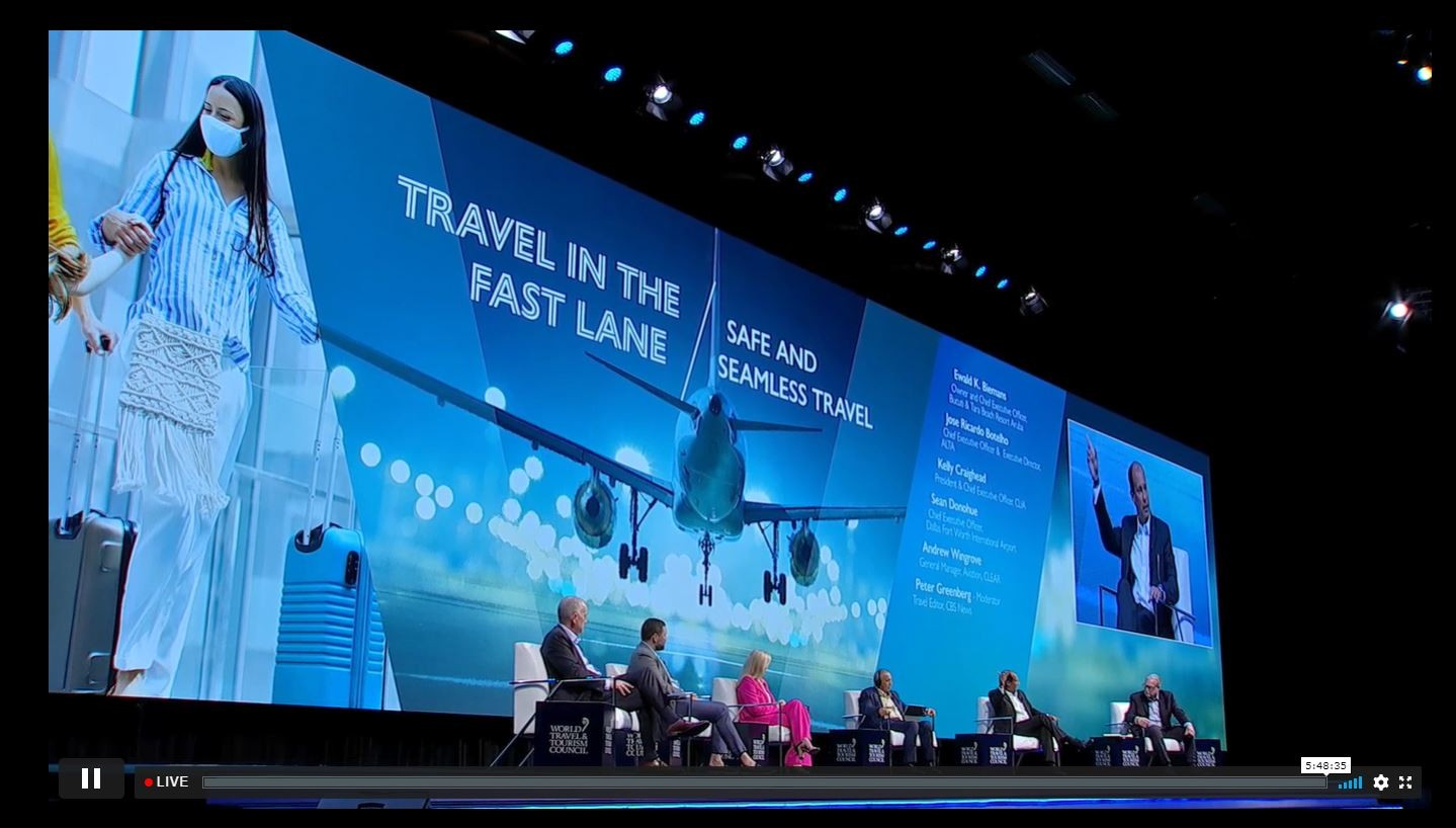 Ewald Biemans joins heads of state at WTTC Global Summit 2021