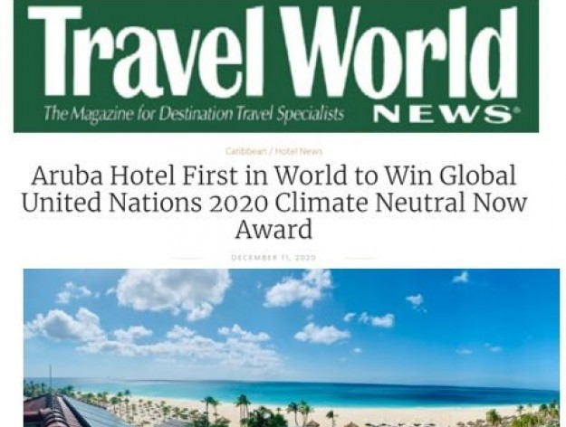 Travel World News - United Nations Climate Neutral Now Award